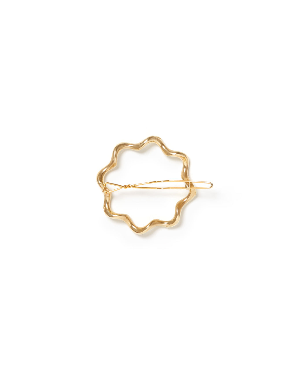 unique shaped gold barrette