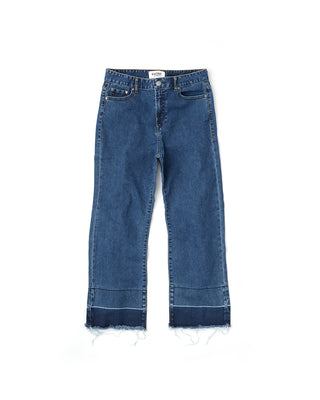 two tone hem denim