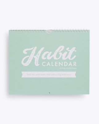 mint colored habit cover calendar