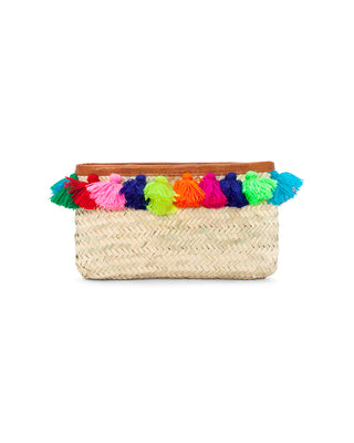 tassel straw clutch