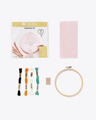 embroidery kit supplies and tools