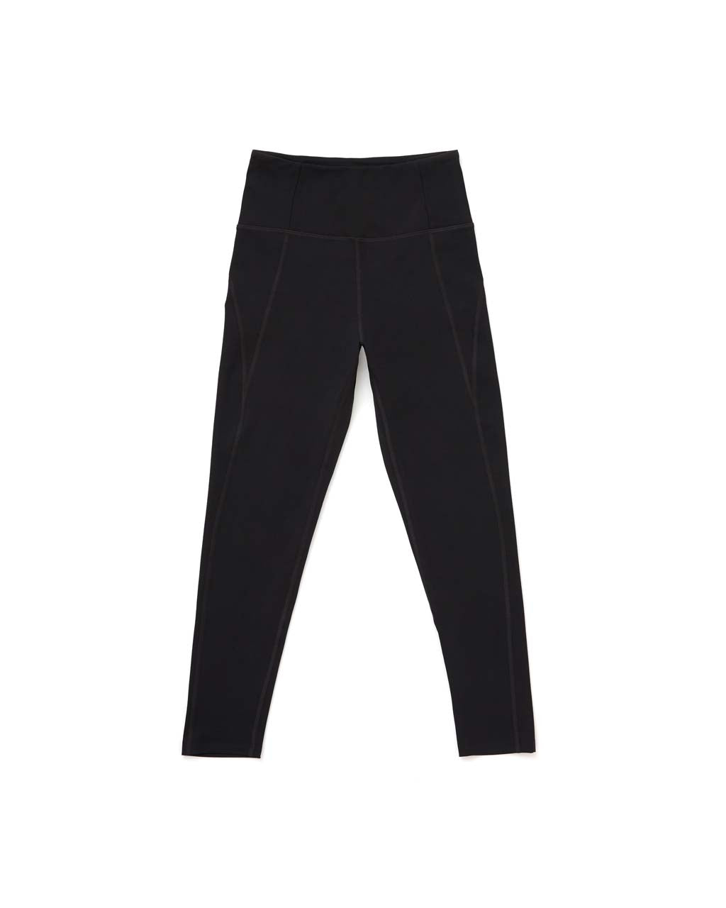Front view of leggings lying flat.