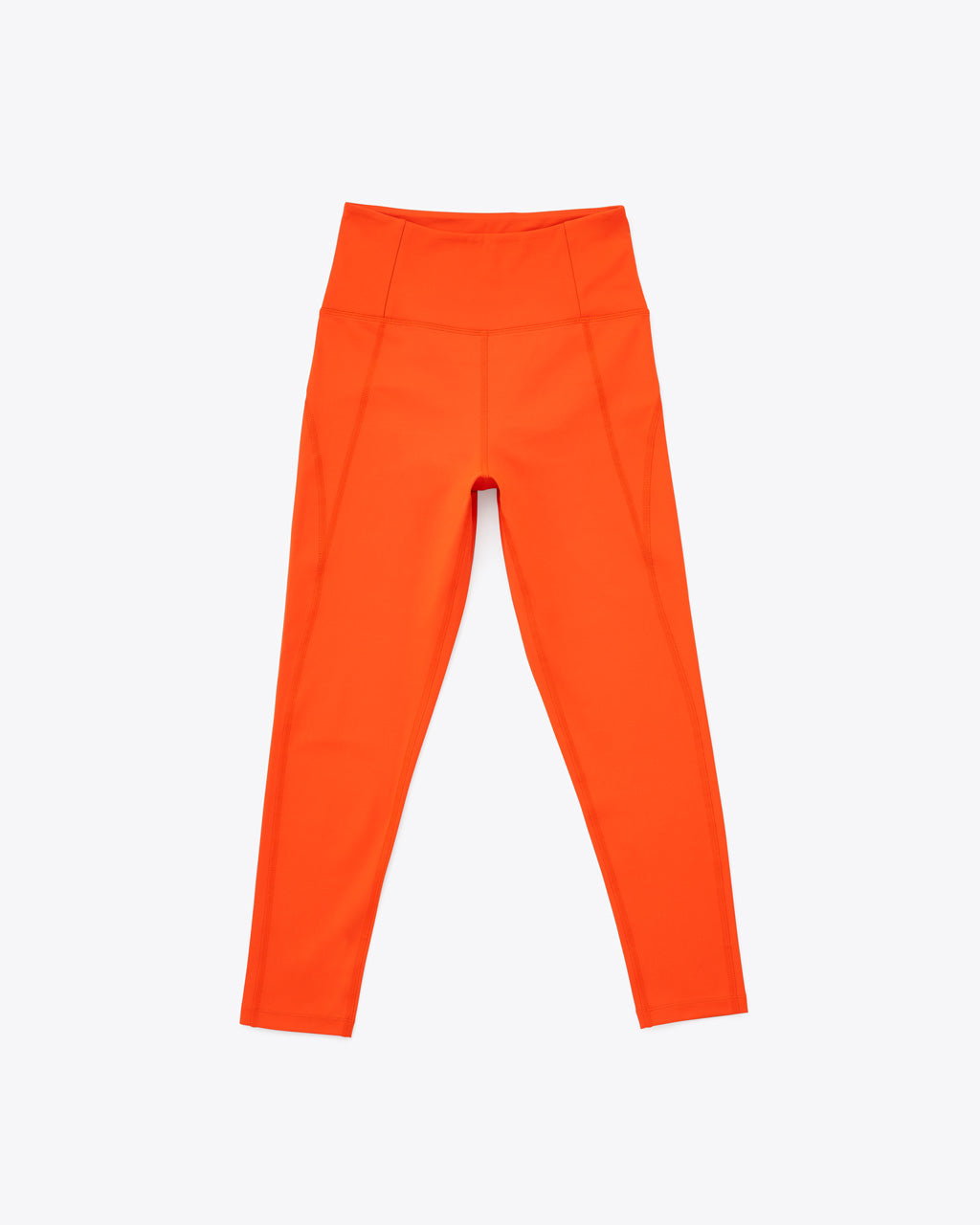 bright orange compression leggings