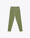 Olive colored compression leggings