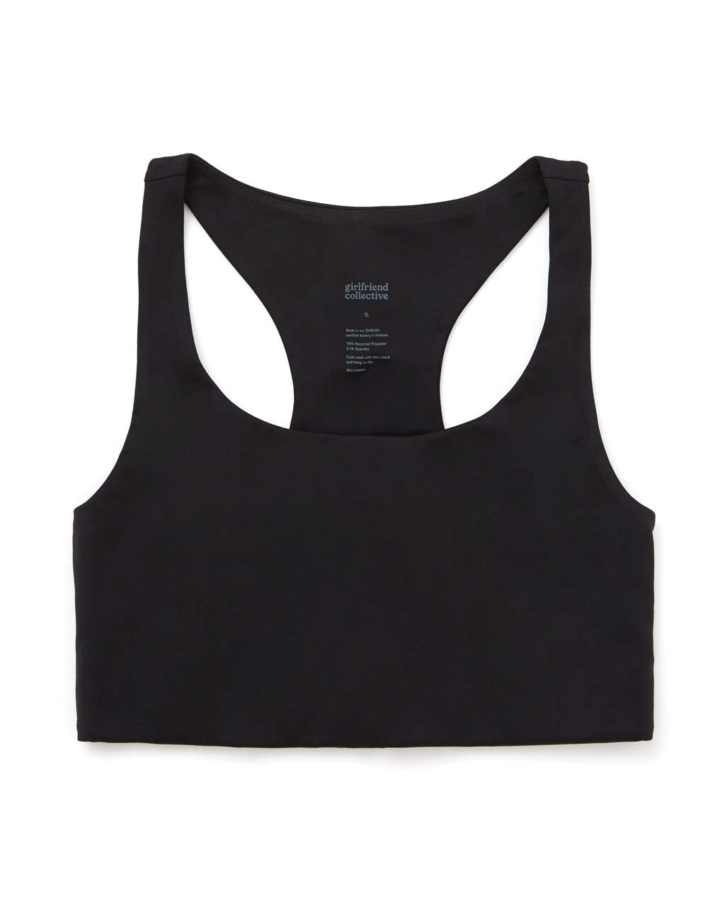 Scoop neck and support band, for style and comfort.