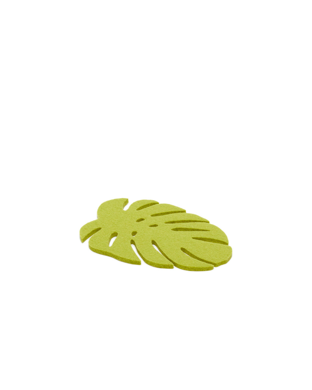 Small monstera trivet in pistachio green.