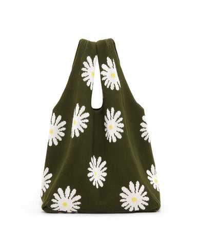 daisy shopper bag- hunter