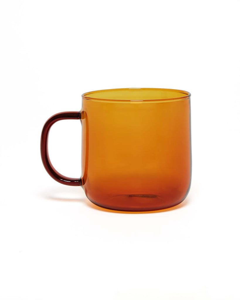 This durable borosilicate mug from Hay comes in a rich amber color.