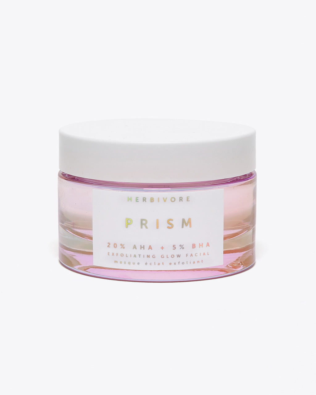 exfoliating facial glow in a round jar