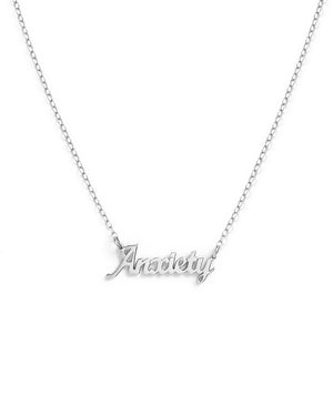 Anxiety Necklace - White
