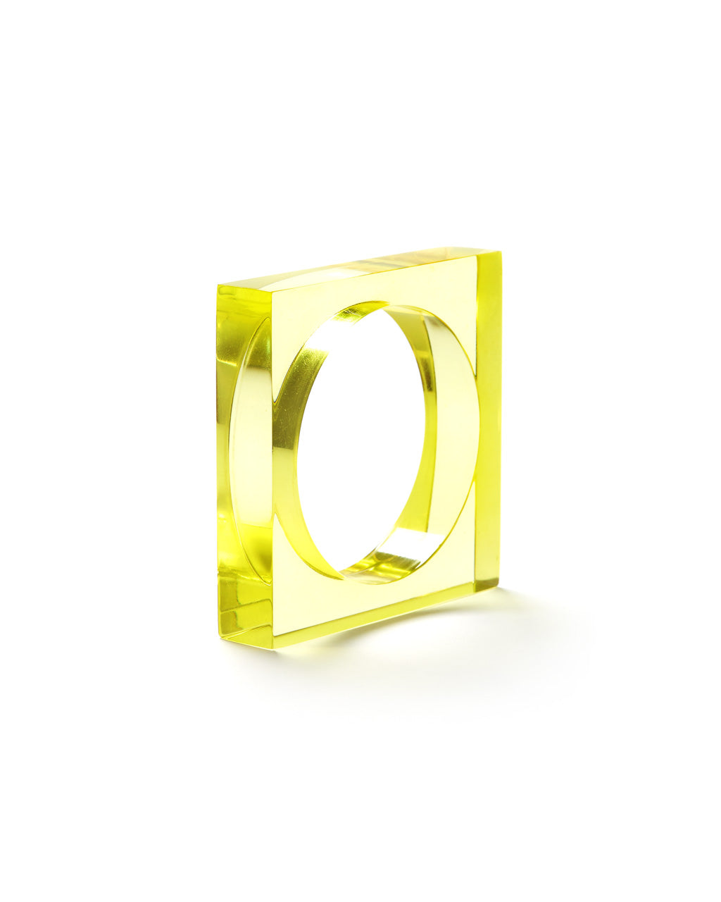 Chartreuse Lucite Square Bangle