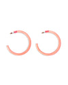 watermelon lucite hoop earrings