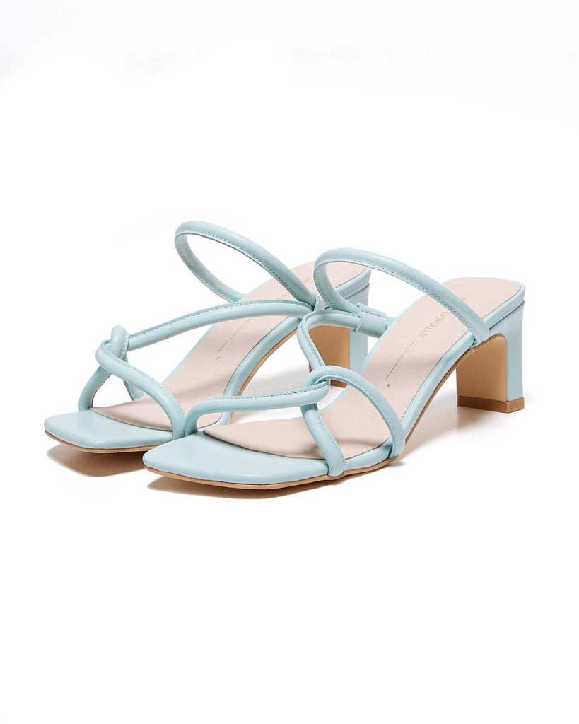 baby blue sandals with tubular straps