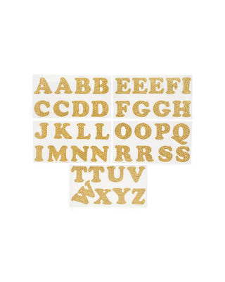 cooper iron-on letters 1 1/4 - gold
