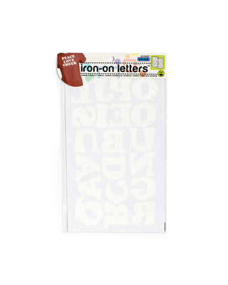cooper iron-on letters 1 1/2 - white