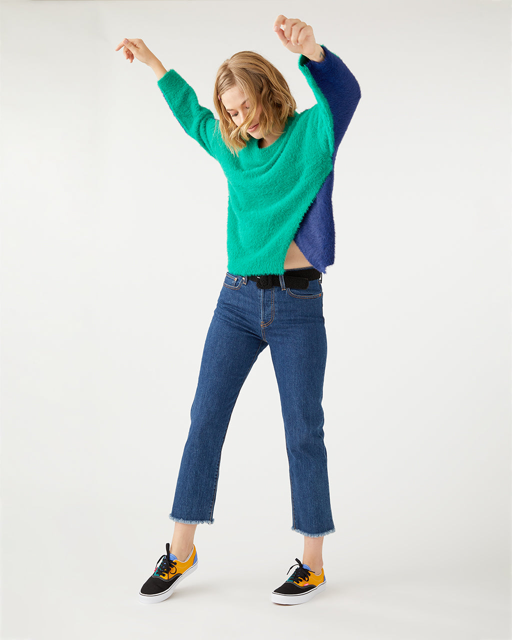 Green & Navy Sweater