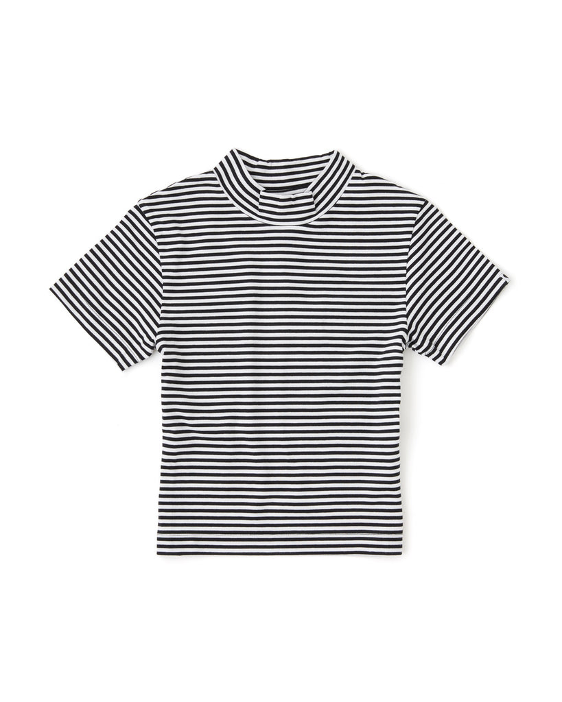 stripe fitted tee