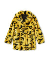 Yellow Leopard Coat