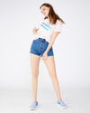 Medium wash levi's shorts