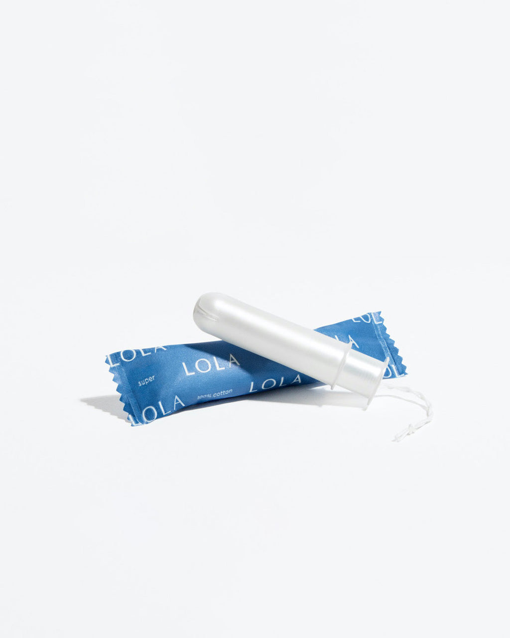 single super absorbency tampon shown with packaging