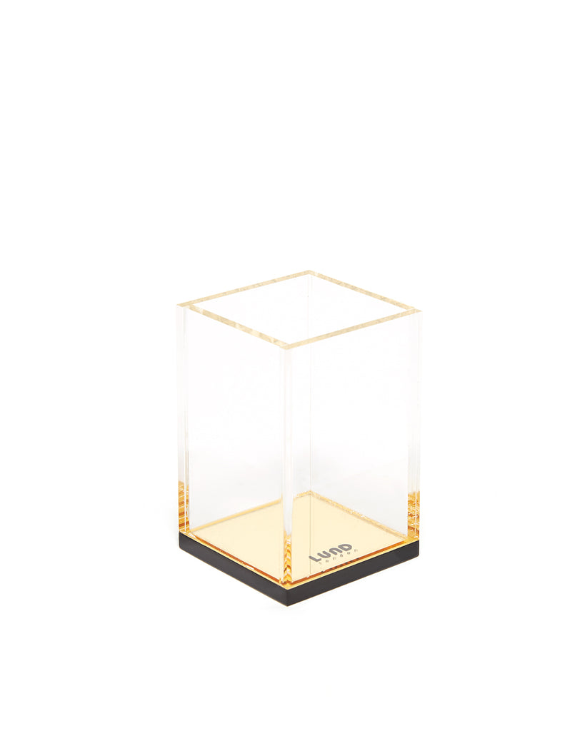shopthelook_flash gold acrylic pencil cup