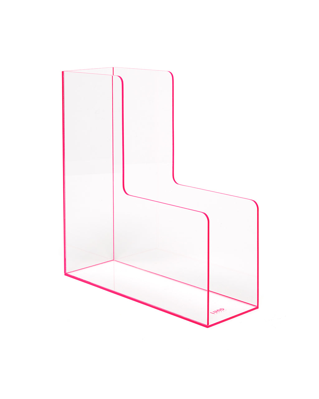flash tidy acrylic filing rack - pink