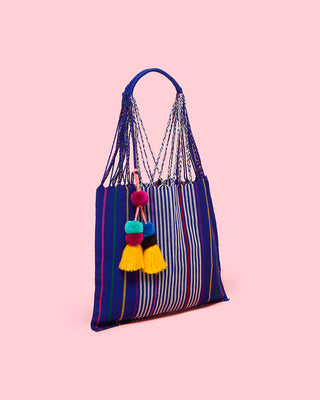 las rayas bag - royal blue
