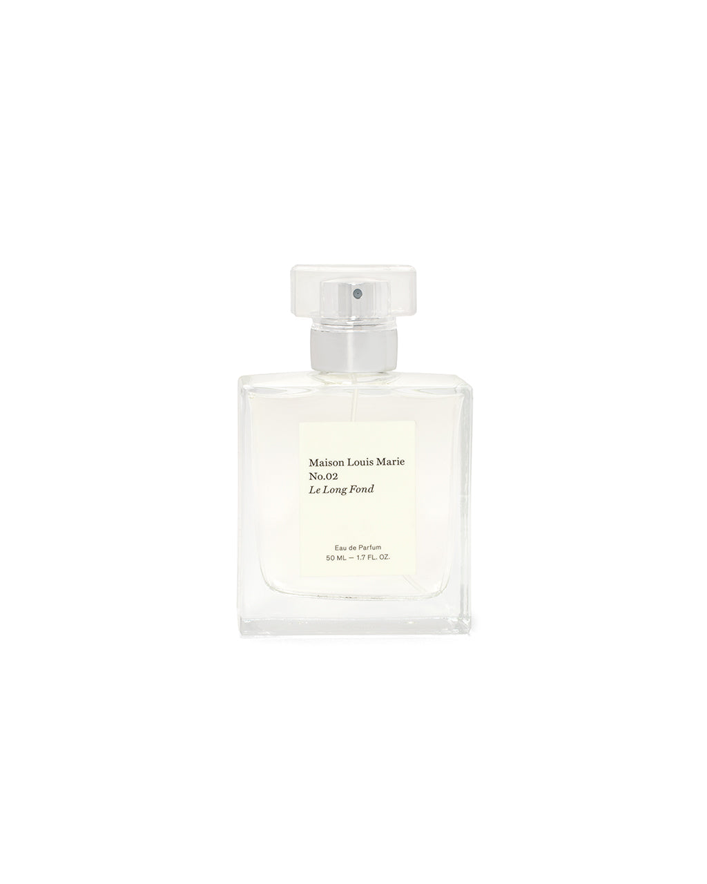 The No. 2 - Le Long Fond by Maison Louie Marie comes in a clear glass mist bottle.