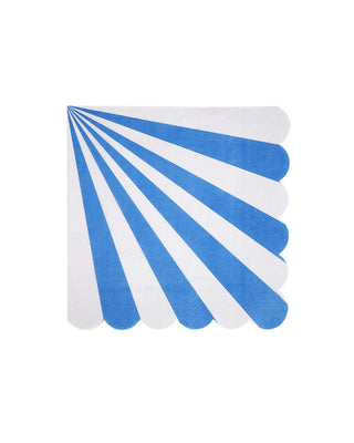 blue stripe fan napkins