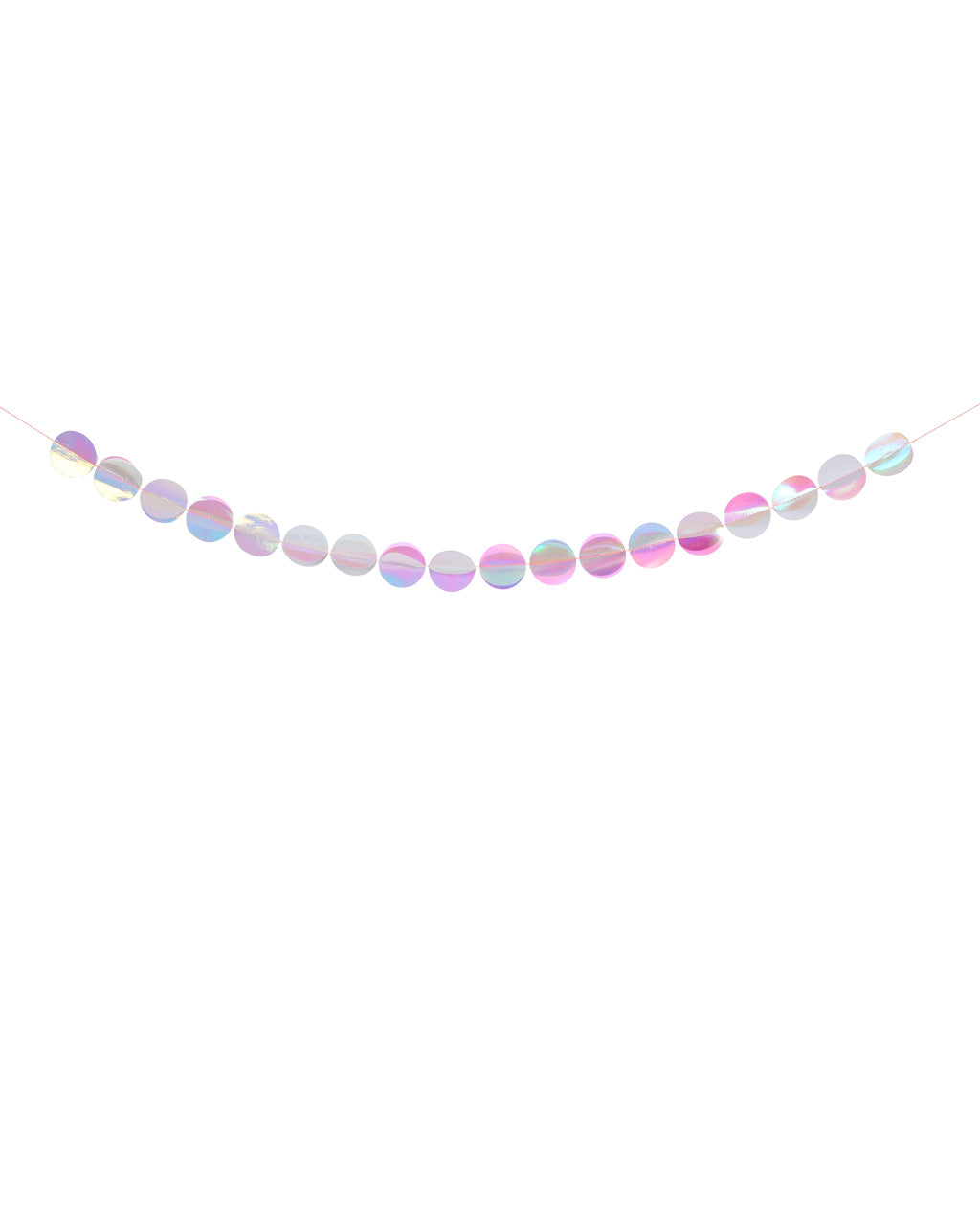 iridescent paper garlands