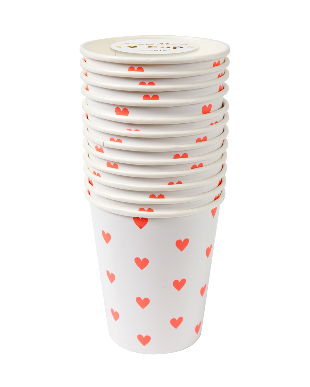 pink heart cups