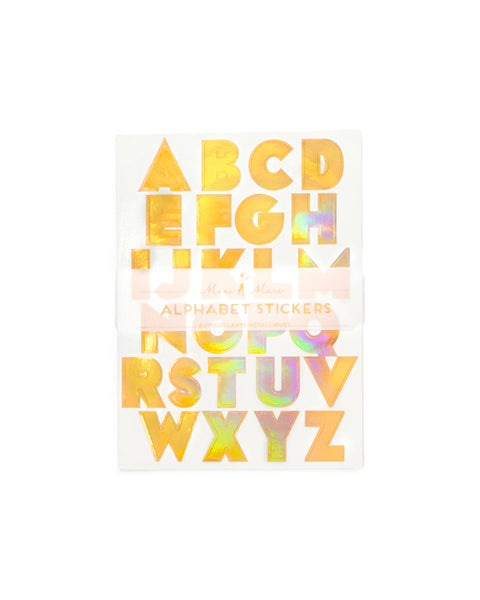 Stickers holographic alphabet by meri meri stickers ban do