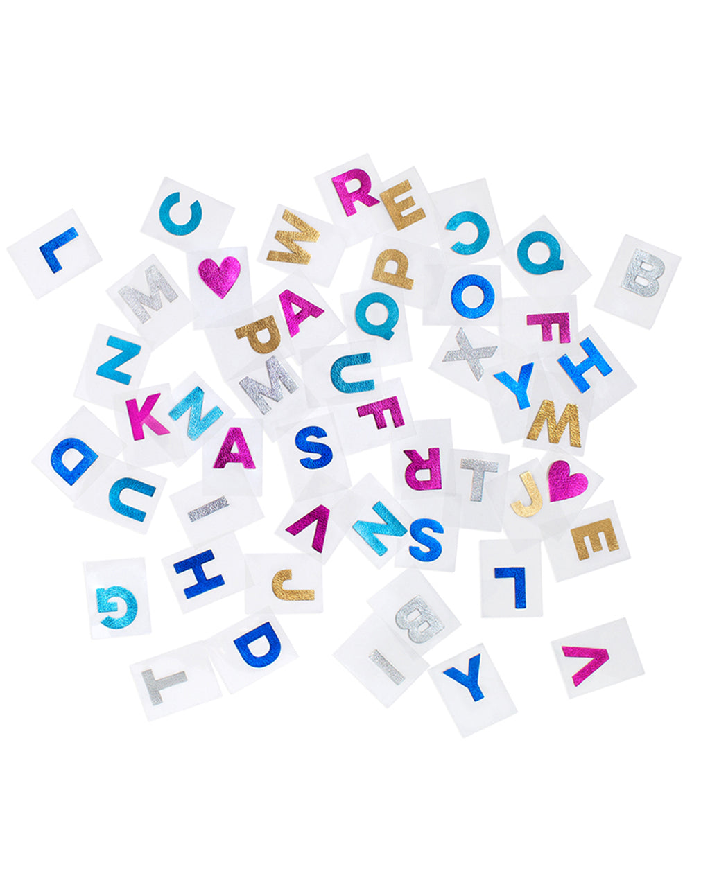 metallic leather alphabet stickers