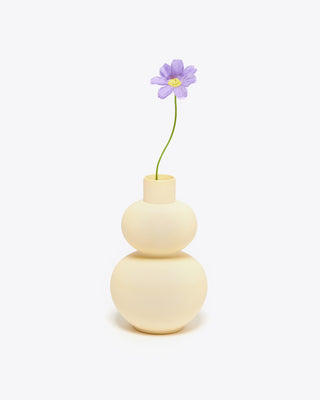 mini yellow vase with flower