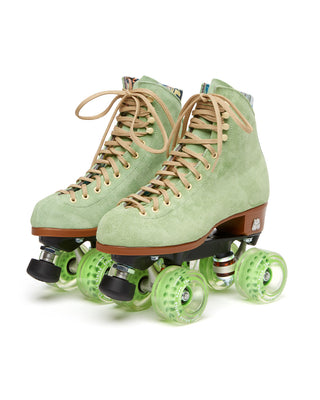 These Lolly Roller Skates by Moxi Roller Skates come in honeydew green.