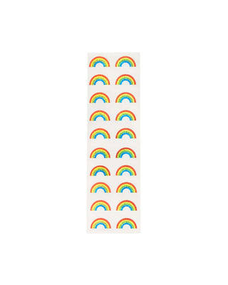 These stickers come in sparkly rainbow colors and shapes.