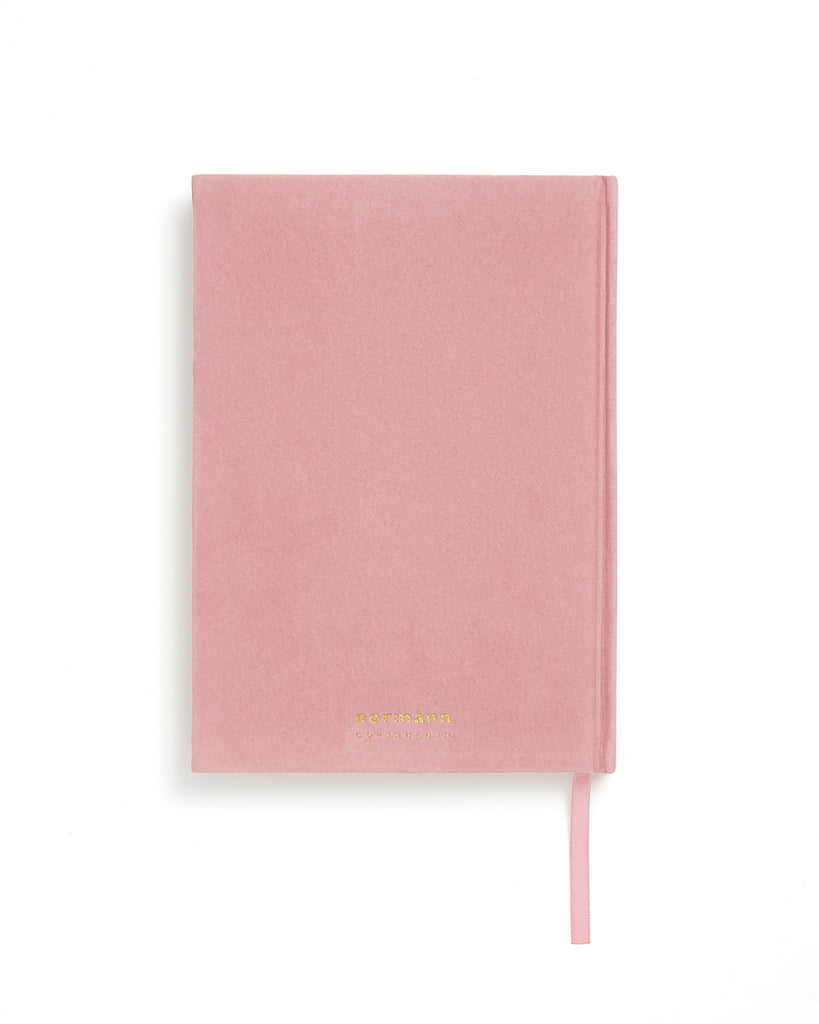 small velour notebook - blush