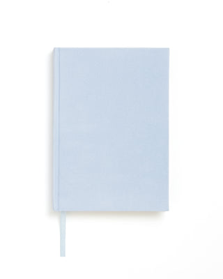 small velour notebook - powder blue
