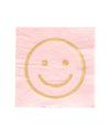 blush smiley napkins