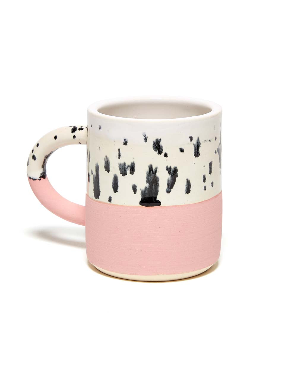 black dots mug - salmon