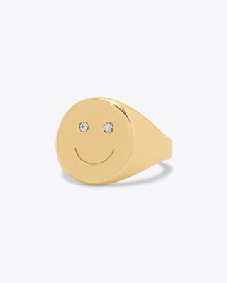 Happy Signet Ring
