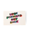 Decal with graphic Look Forward Not Back.