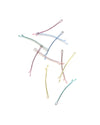 10 pack of pastel colored bobby pins scattered.