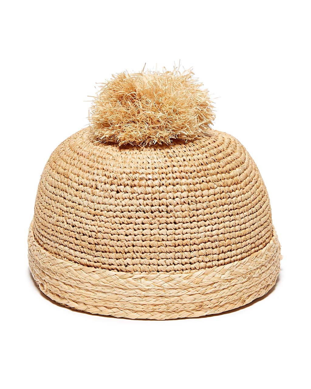 Straw Hat with Pom Pom