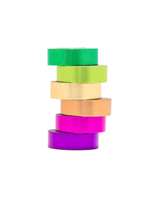 metallic rainbow tape pack