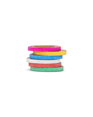 mini rainbow glitter tape pack