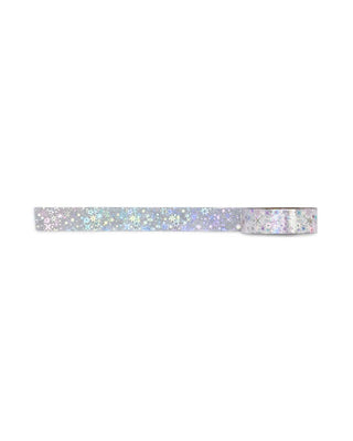 silver holographic star tape
