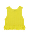 back view of yellow fringe tank