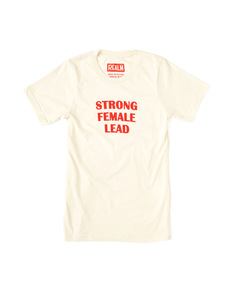 shopthelook_strong female lead tee - red/ivory