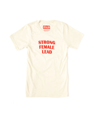 strong female lead tee - red/ivory